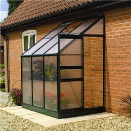 6 x 4 Lean-to Greenhouse Metal Greenhouse
