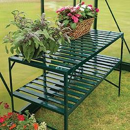 2 Tier Greenhouse Staging Shelving Staging