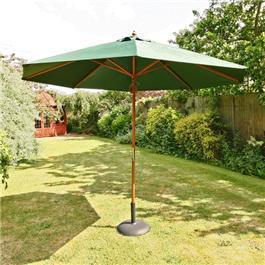 Sturdi 3m Hardwood Frame Garden Parasol - Green