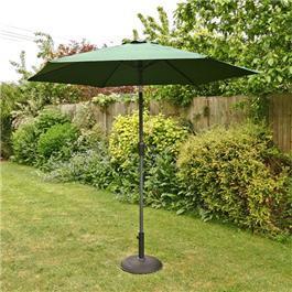 2.5m Sturdi Plus Aluminium Crank Garden Parasol - Green