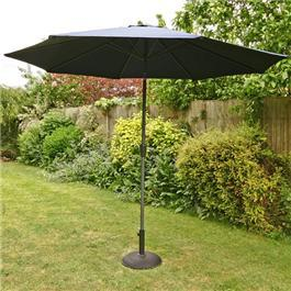 3m Sturdi Plus Aluminium Crank and Tilt Garden Parasol Navy Blue