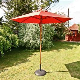 Sturdi Parasols - 2m Hardwood Frame Garden Parasol - Terracotta