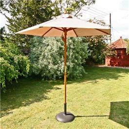 Sturdi Parasols - 2m Hardwood Frame Garden Parasol - Taupe