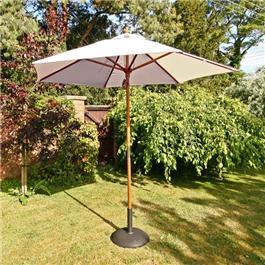Sturdi 2.5m Hardwood Frame Garden Parasol Taupe