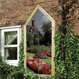 Garden Mirror Gothic Window