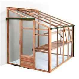 Growhouse Lean To Cedar Greenhouse