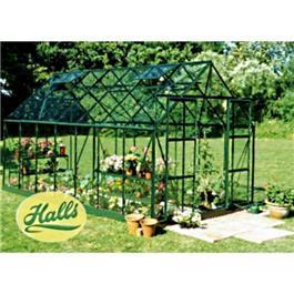 Green Aluminium Magnum 14 x 8 Toughened Greenhouse