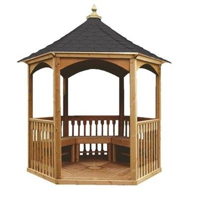 Home Garden Structures Gazebos Jagram Brompton Tiled Gazebo
