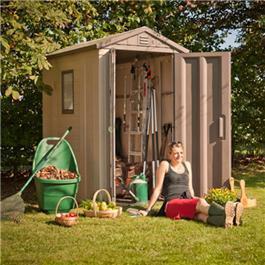keter plastic shed apex 6 x 4 plastic garden shed - Garden Sheds 6x4