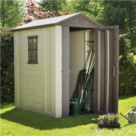 plastic shed free floor 6 x 5 amber skylight plastic shed free floor - Garden Sheds B Q