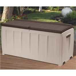 Garden Storage Box Light Brown Beige