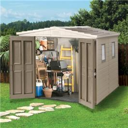 Apollo 8 x 8 Apex Garden Store Shed Plastic Shed