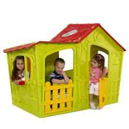Keter Magic Villa Green & Red Plastic Playhouse