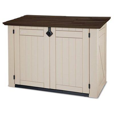 Keter store it out xl plastic garden storage box brown - Brown plastic garden sheds ...