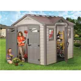 Keter Plastic Sheds - Summit 8 x 9 Plastic Garden Shed