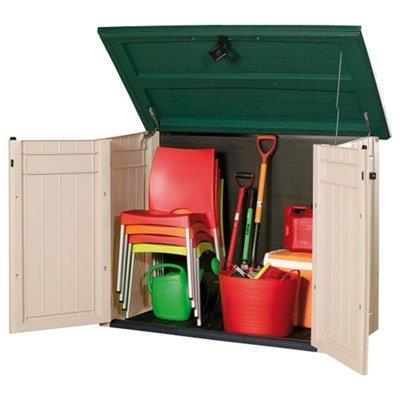 Keter store it out xl plastic garden storage box 1300 - Green plastic garden sheds ...