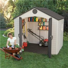 Lifetime Apex 8' Fronted Plastic Garden Shed