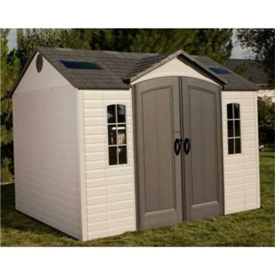 Lifetime reverse apex plastic garden shed cheap plastic for Affordable garden sheds