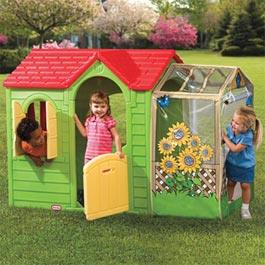 Little Tikes Garden Cottage Plastic Playhouse - Evergreen