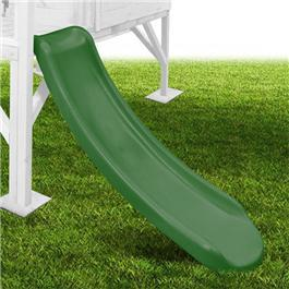 1.15m Plastic Slide - Forest Green