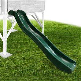 1.78m Plastic Slide - Forest Green