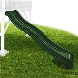 2.18m Plastic Slide - Forest Green