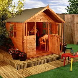 Playhouse Mad Dash Lollipop Inc Veranda 6' x 5' Wooden Playhouse