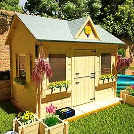 19mm Village Hall Cabin Playhouse Wooden Playhouse