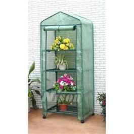 Nison 4 Tier Mini Greenhouse With PVC Cover & Wheels