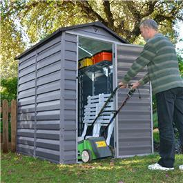 BillyOh Skylight 4' Fronted Apex Plastic Garden Shed - Anthracite