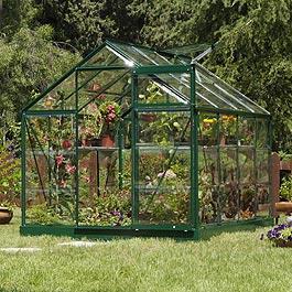 Palram Greenline 6'x4' Polycarbonate Glazed Greenhouse Metal Greenhouse