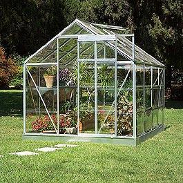 Palram Silverline 6'x4' Polycarbonate Glazed Greenhouse Metal Greenhouse