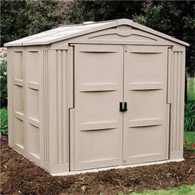 Suncast bollington plastic shed garden storage direct for Garden shed 9x7