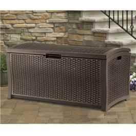 Suncast Rattan Garden Storage Deck Box