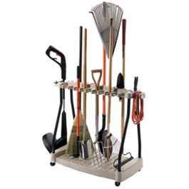 Suncast Tool Rack With Wheels