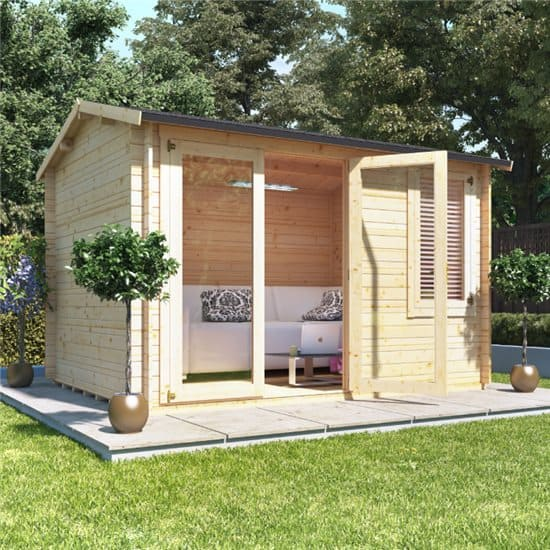 Home office cabin Farmhouse Rustic For Something Little Bigger You May Want To Opt For Cabin Such As The Devon Log Cabin Garden Buildings Direct Choosing Log Cabin Home Office Blog Garden Buildings Direct