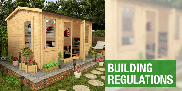 Building Regulations with a BillyOh shed on a patio