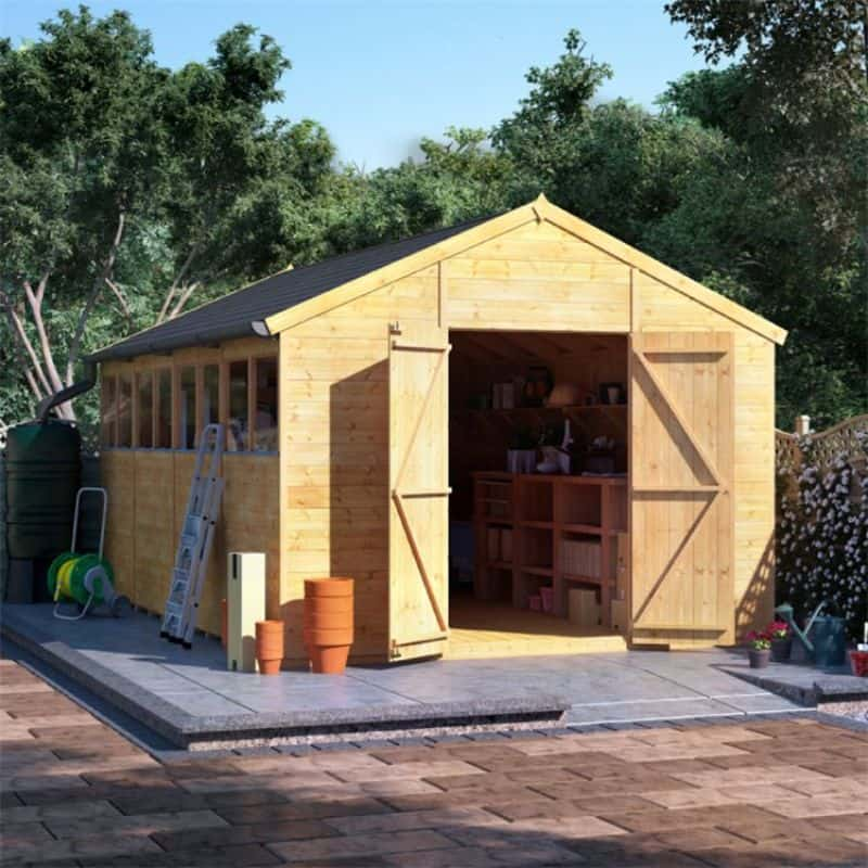 5-ways-to-soundproof-shed-1-soundproofing-the-wallBillyOh Expert Tongue and Groove Apex Workshop