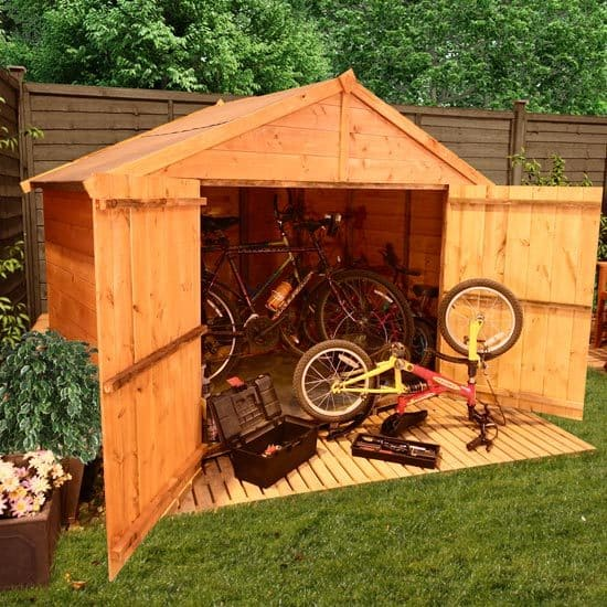 making your bike shed more burglar proof shed blog. Black Bedroom Furniture Sets. Home Design Ideas
