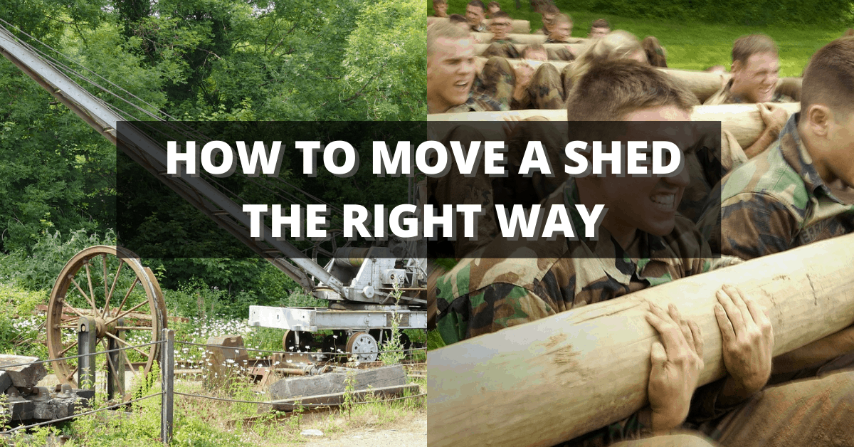 how to move or transport a shed