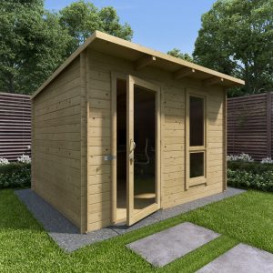 Working from home log cabin garden office