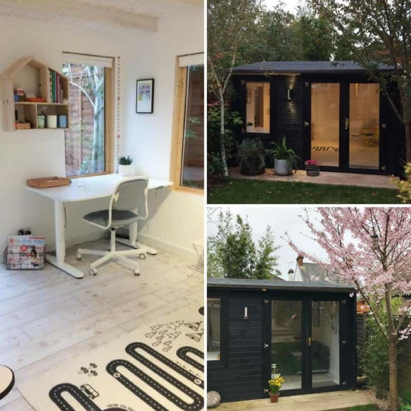 summer house office. This Stylish Summerhouse Makes A Stunning Home Office For Any Garden. Paint The Exterior Of Your Summer House In Black Chic Look. C