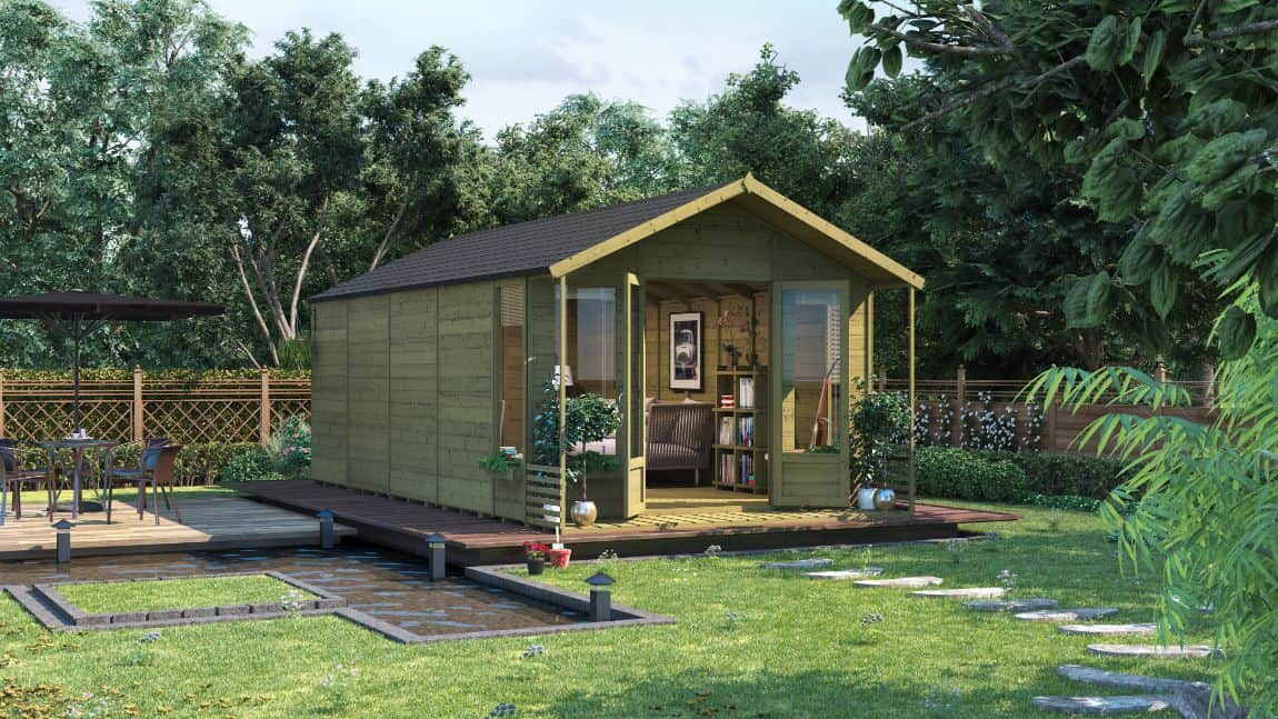 BillyOh Pressure-Treated Ivy Tongue and Groove Apex Summerhouse - Treating your summer house