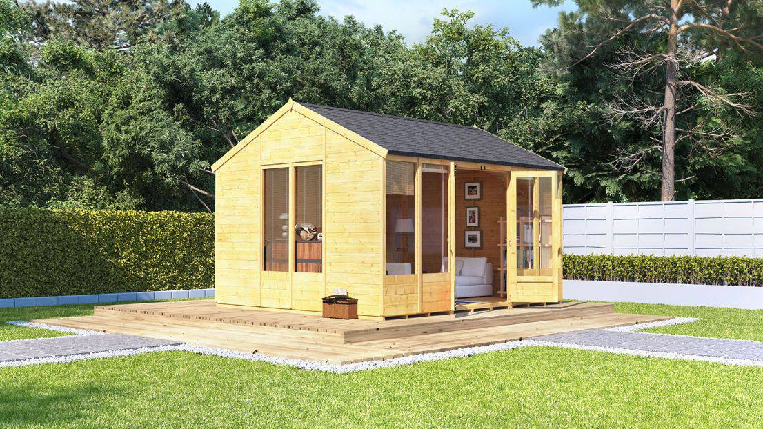 Stopping damp in your summer house - BillyOh Petra Tongue and Groove Reverse Apex Summerhouse