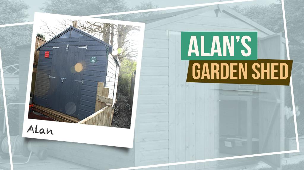 """Alan's Hobbyist """"Tall"""" Garden Shed"""
