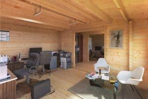 home garden office log cabin