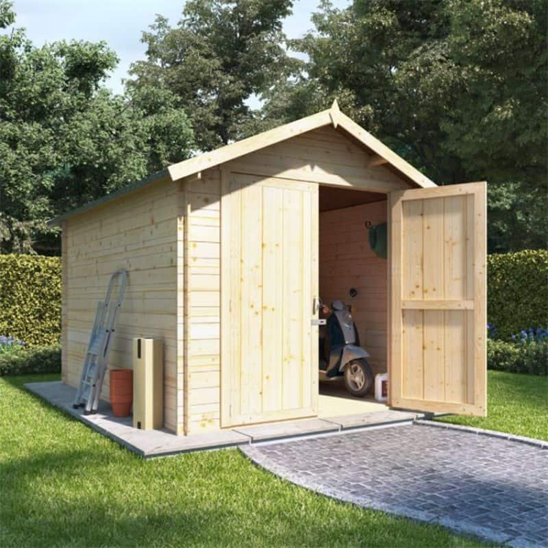 Best large wooden sheds - BillyOh Apex Log Cabin Windowless Heavy Duty Shed Range