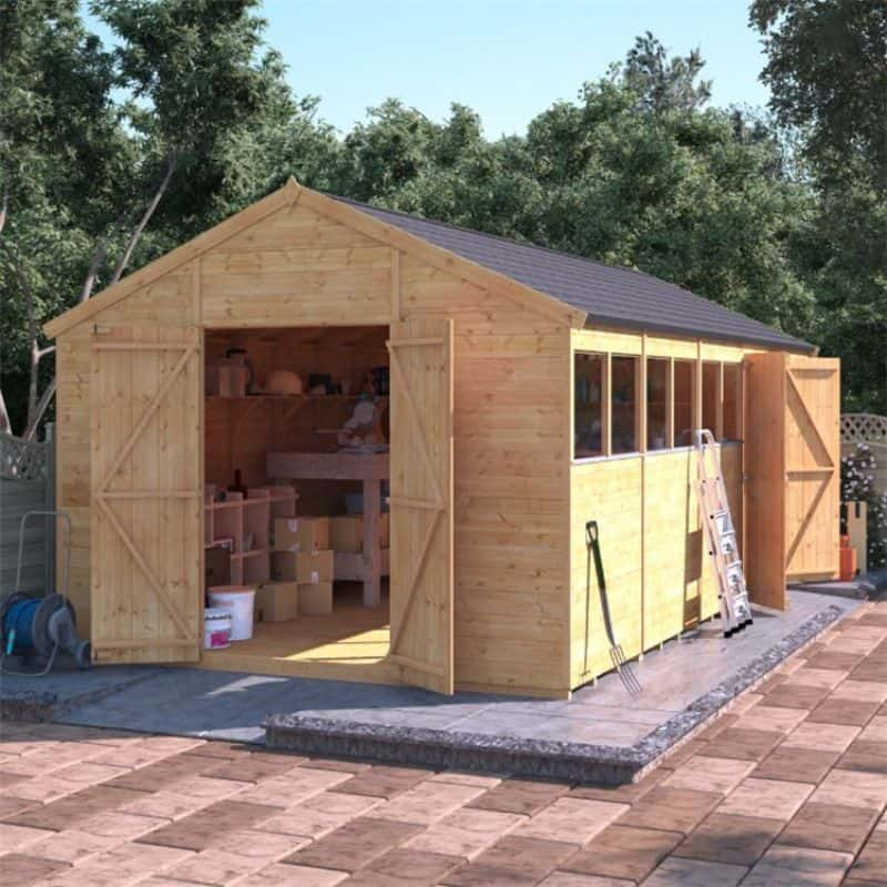 Best large wooden sheds - BillyOh Expert Tongue and Groove Apex Workshop with Dual Entrance