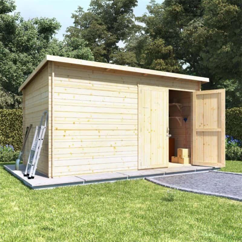 Best large wooden sheds - BillyOh Pent Log Cabin Windowless Heavy Duty Shed Range