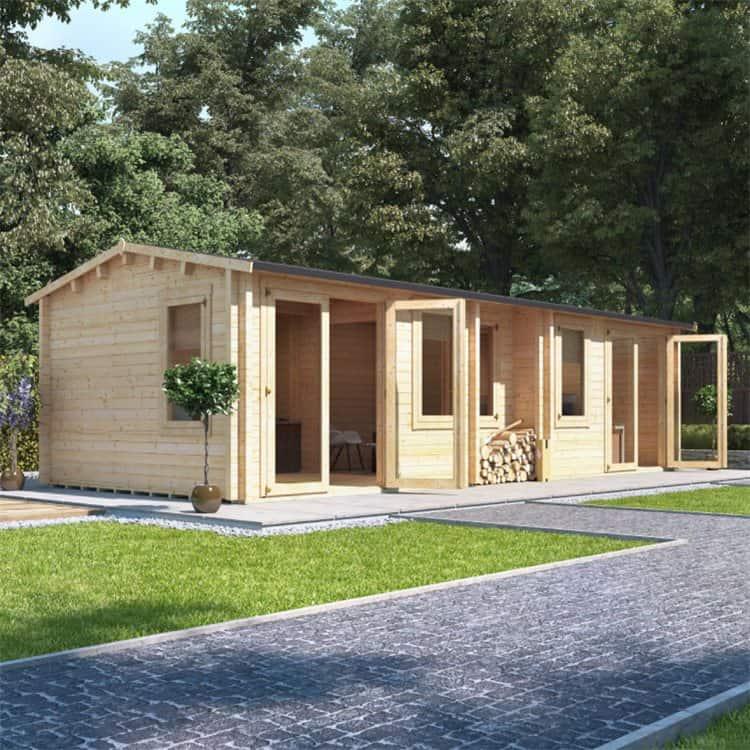 BillyOh Hub Garden Office Log Cabin